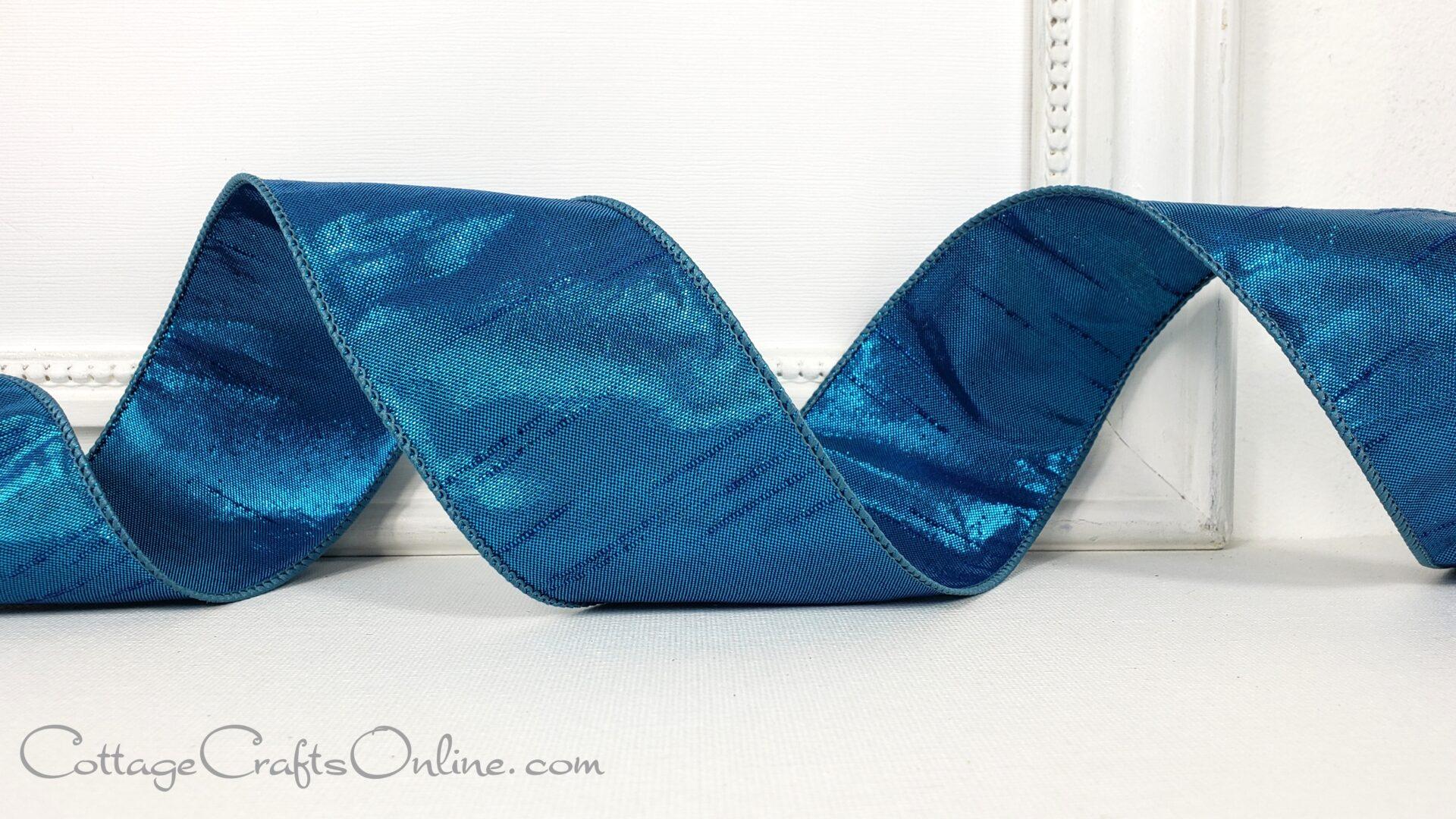 blue teal keeva metallic faux dupioni 40 ol-004