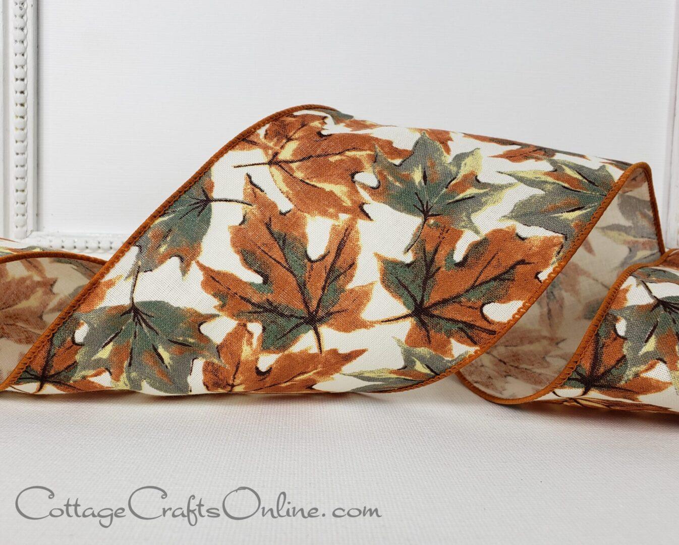ds fall leaf leaves grey brown cream 100-005