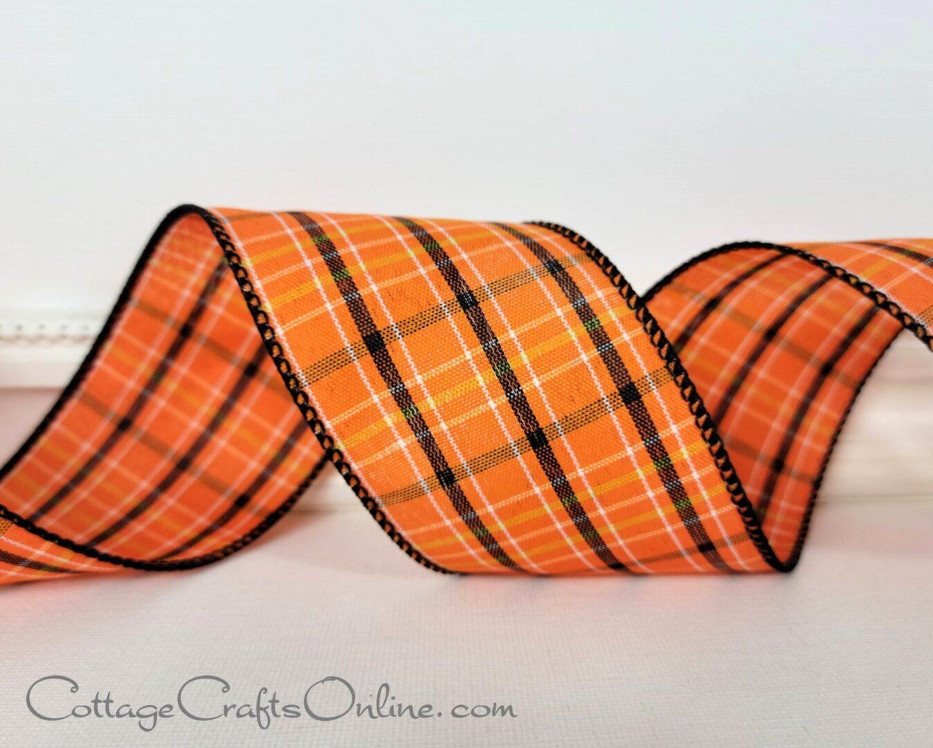 taunton orange black white plaid check ol halloween-007