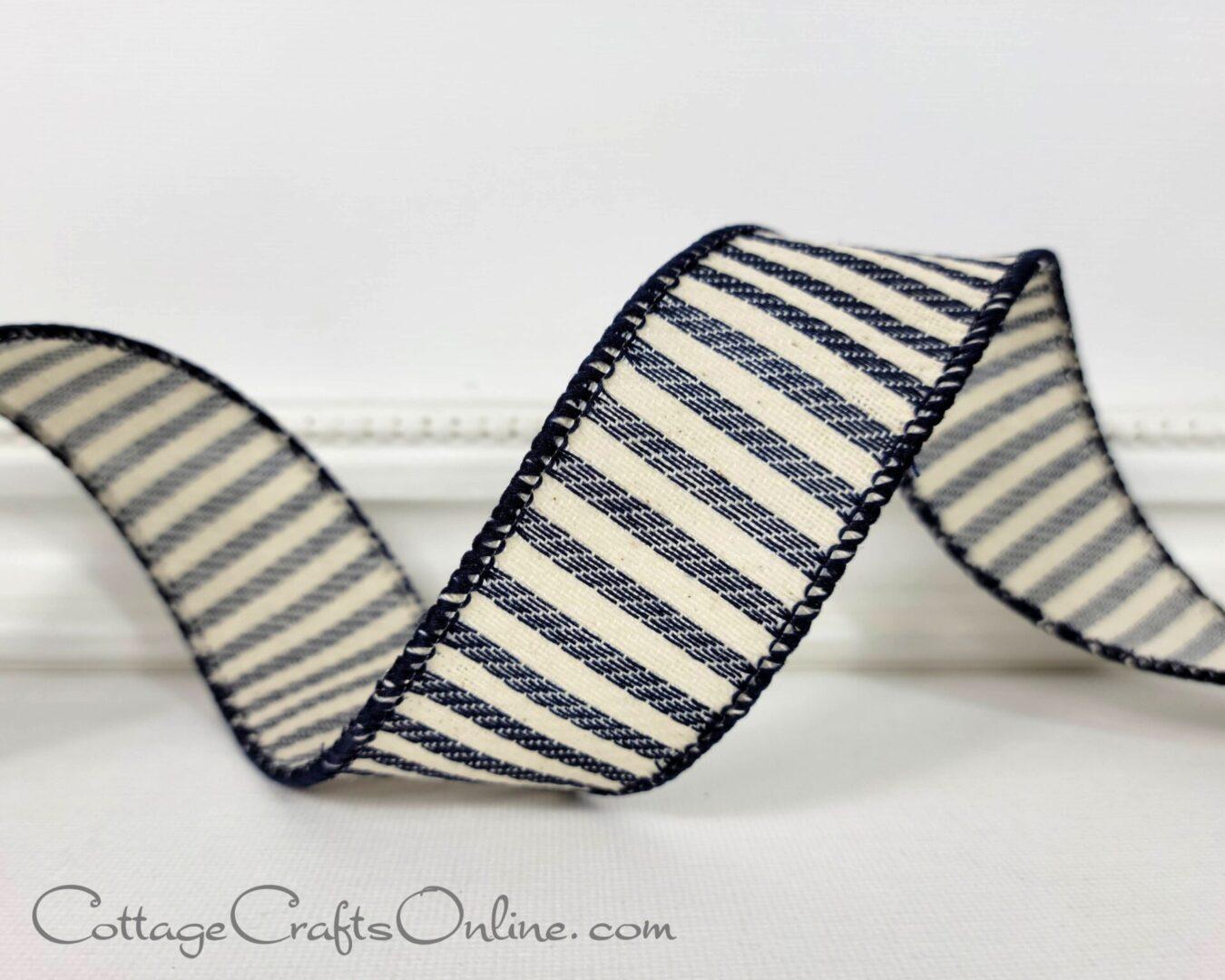 villa navy ivory cream stripe ol 9-009
