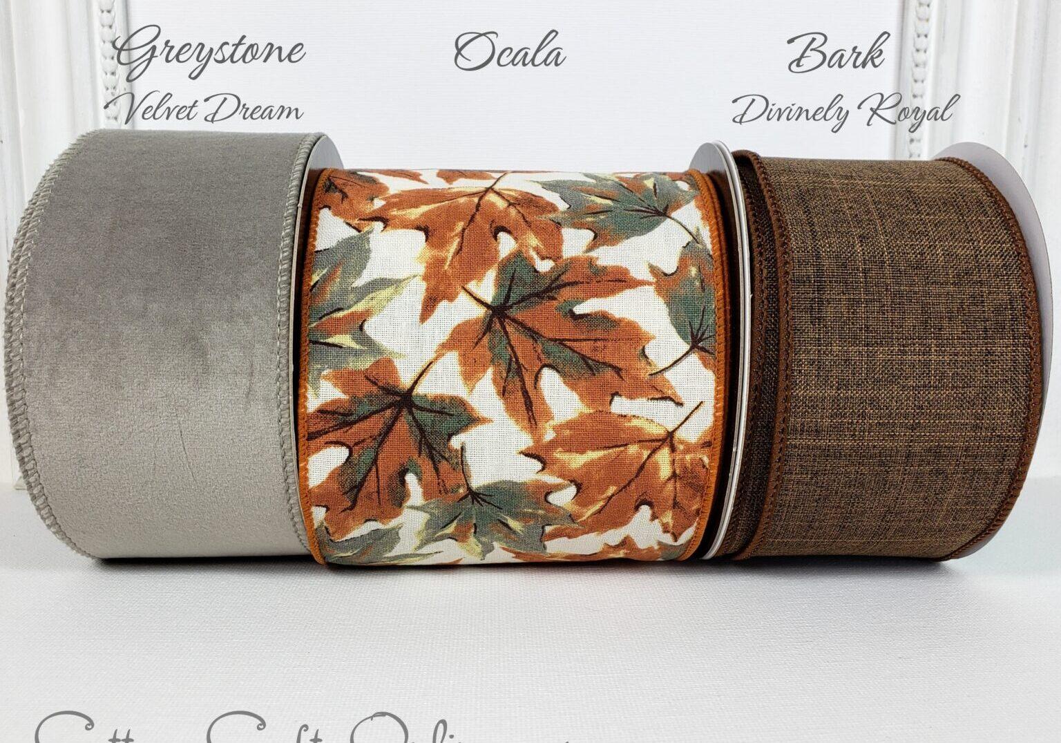 ds fall leaf leaves grey brown cream 100 combo velvet royal-007