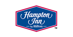 Logo for Hampton Inn by Hilton