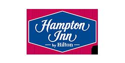 Logo for Hampton Inn by Hilton