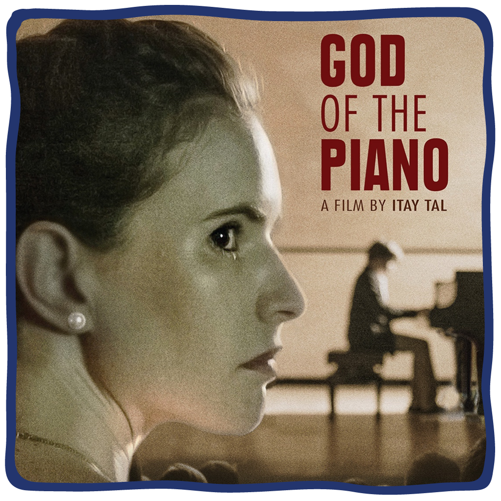 """Poster for the film """"God of the Piano,"""" presented at the 2021 Lenore Marwil Detroit Jewish Film Festival"""