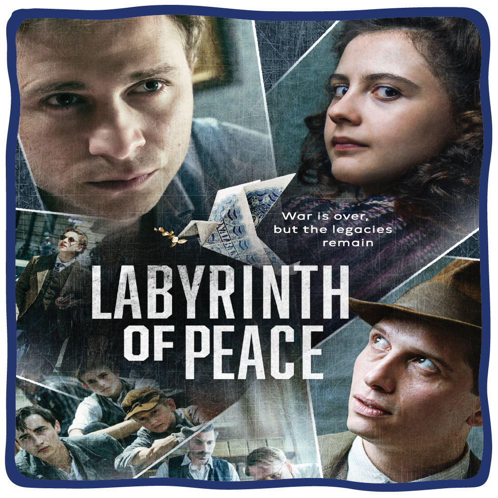 """Poster for the film """"Labyrinth of Peace,"""" presented at the 2021 Lenore Marwil Detroit Jewish Film Festival"""