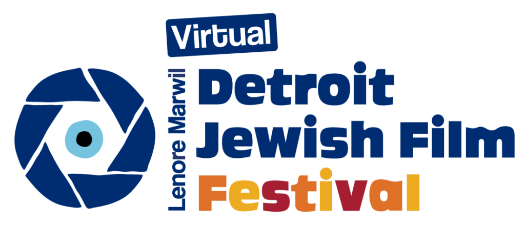 Logo for the Virtual Lenore Marwil Detroit Jewish Film Festival