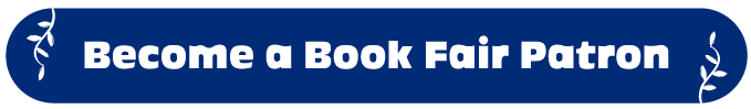 "Blue button with the text ""Become a Book Fair Patron"""