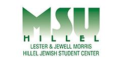 Logo for MSU Hillel, Lester & Jewell Morris Hillel Jewish Student Center