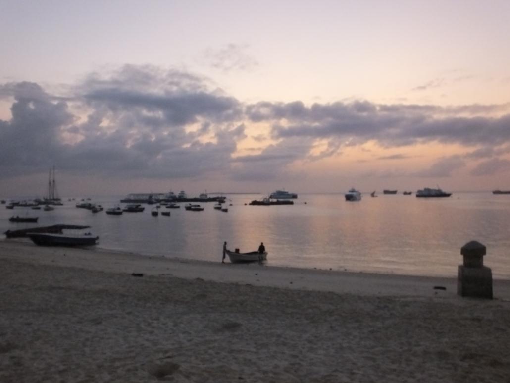 Fishing Boats at Dusk (Zanzibar)