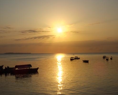 Fishing Boats At Sunset(Zanzibar)