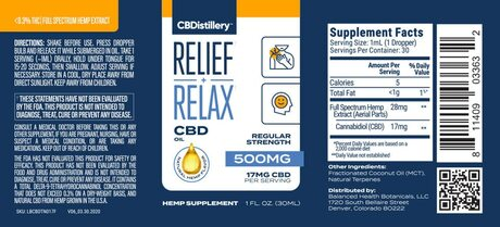 Regular Strength Full Spectrum CBD Oil 500 mg