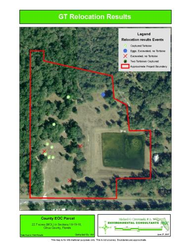 Gopher Tortoise Relocation Map