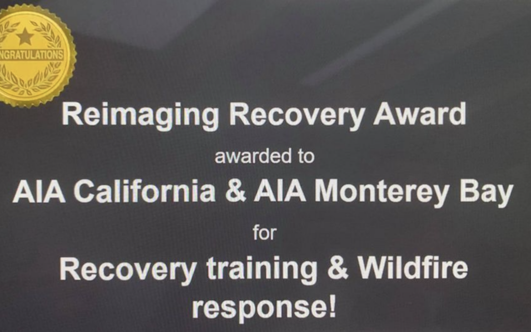 AIA Monterey Bay and the Rebuild Santa Cruz Efforts Win National Recognition