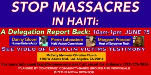 Stop Massacres in Haiti