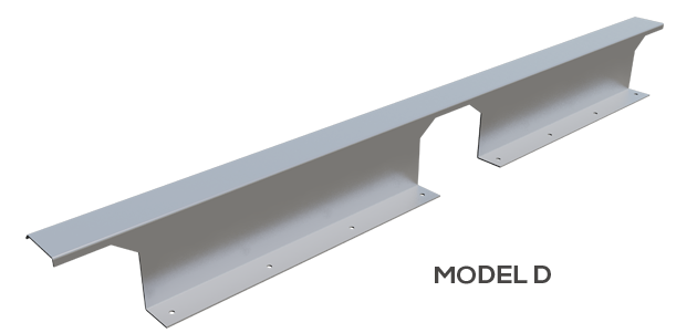 "4.5""tall Model ""D"" for typical 24"" on center rib Trapezoidal Standing Seams or other custom sizes for 12""-30"" trapezoidal panels."
