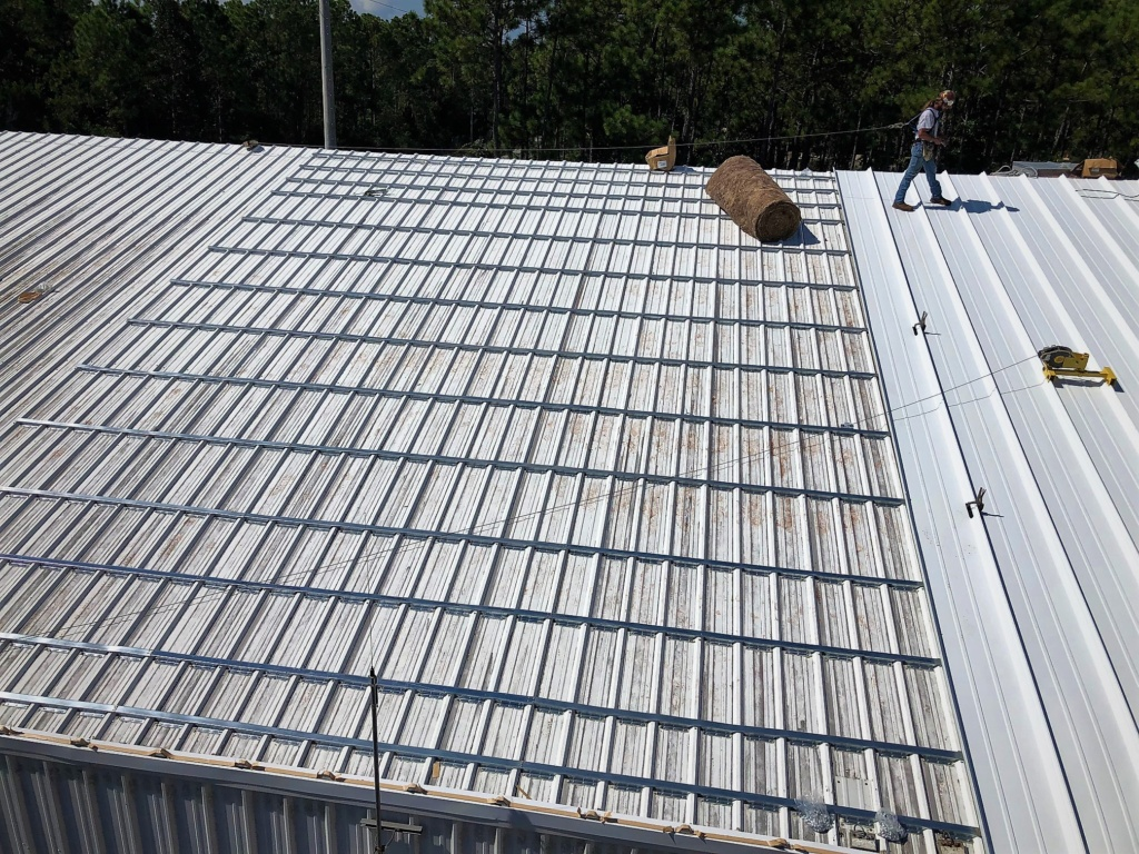 Roof Hugger metal roof retrofit for new metal roof