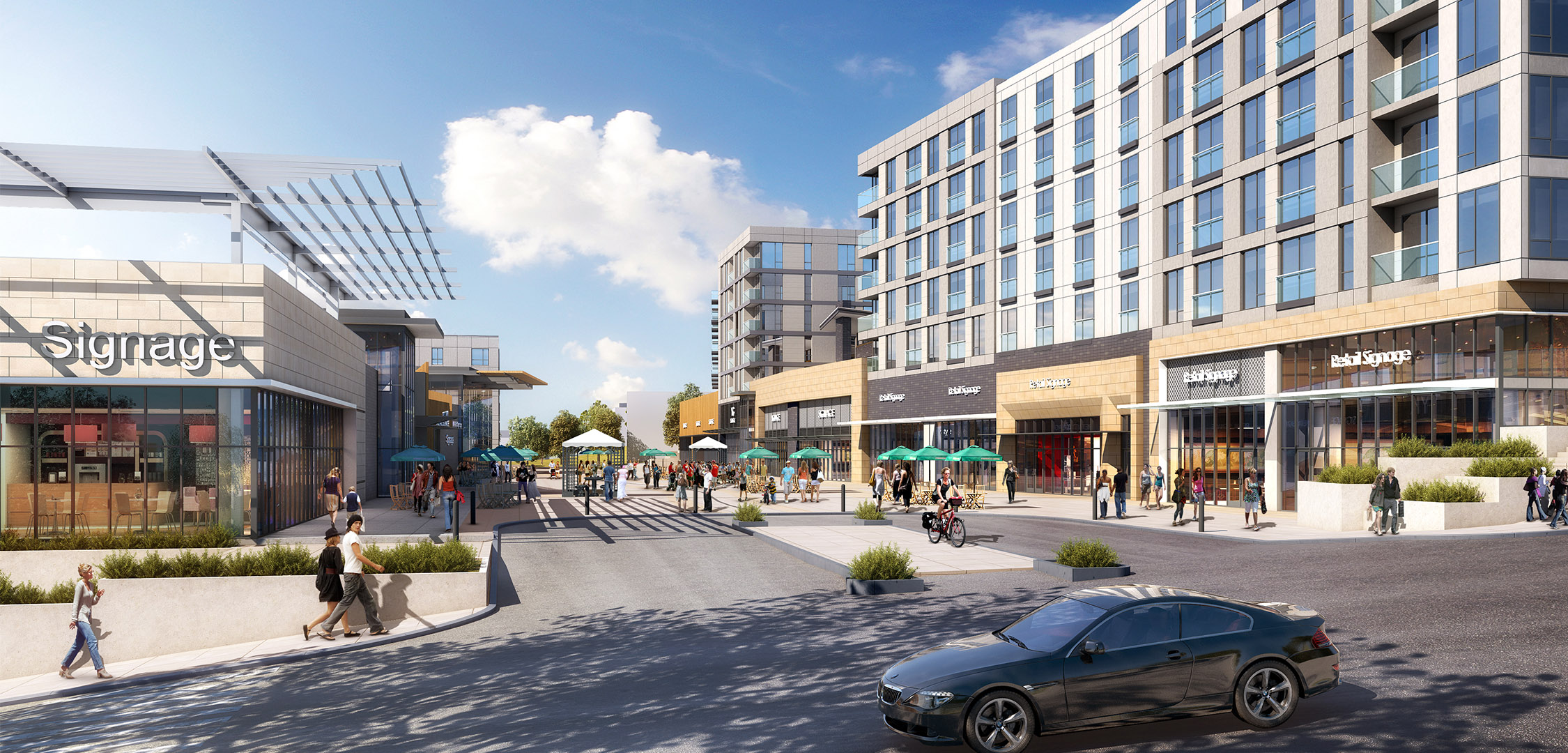 Street view render of Tacoma Town Center Phase II