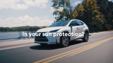 """YouTube video thumbnail with text, """"...in your sun protection?"""""""