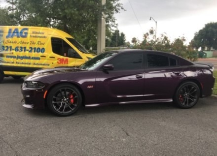 Car with paint protection film