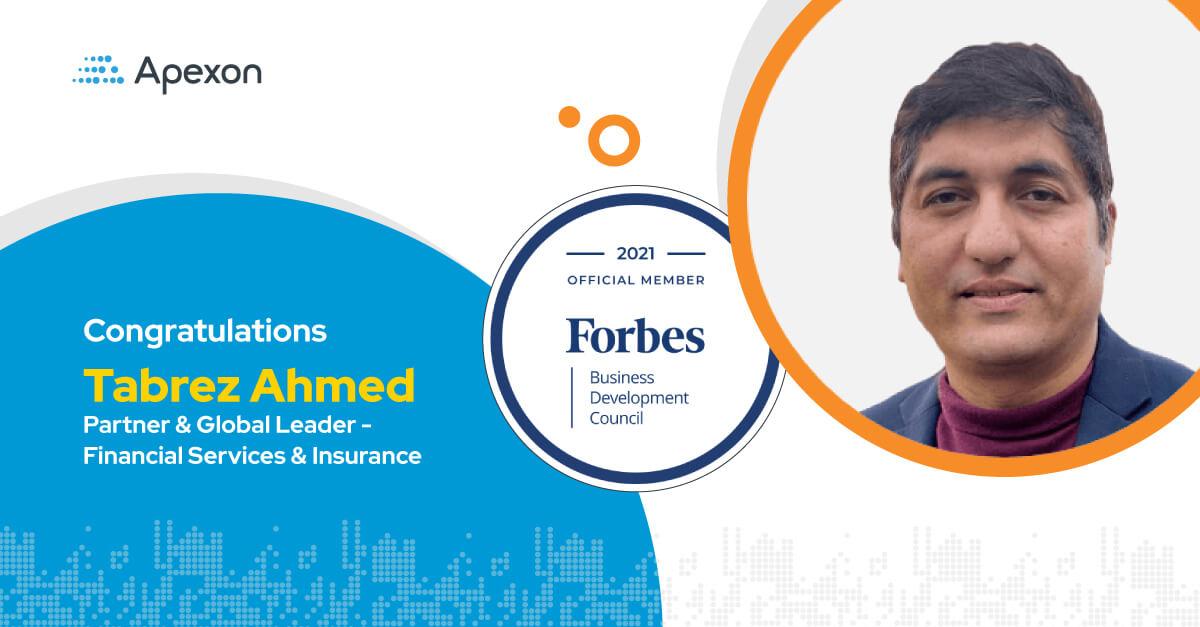 Congratulations Tabrez Ahmed, Partner & Global Leader – Financial Services & Insurance