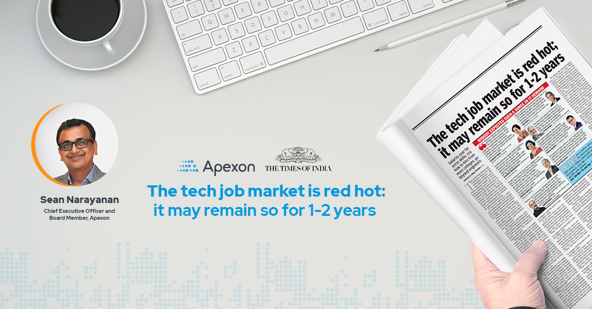 The tech job market is red hot; it may remain so for 1-2 years