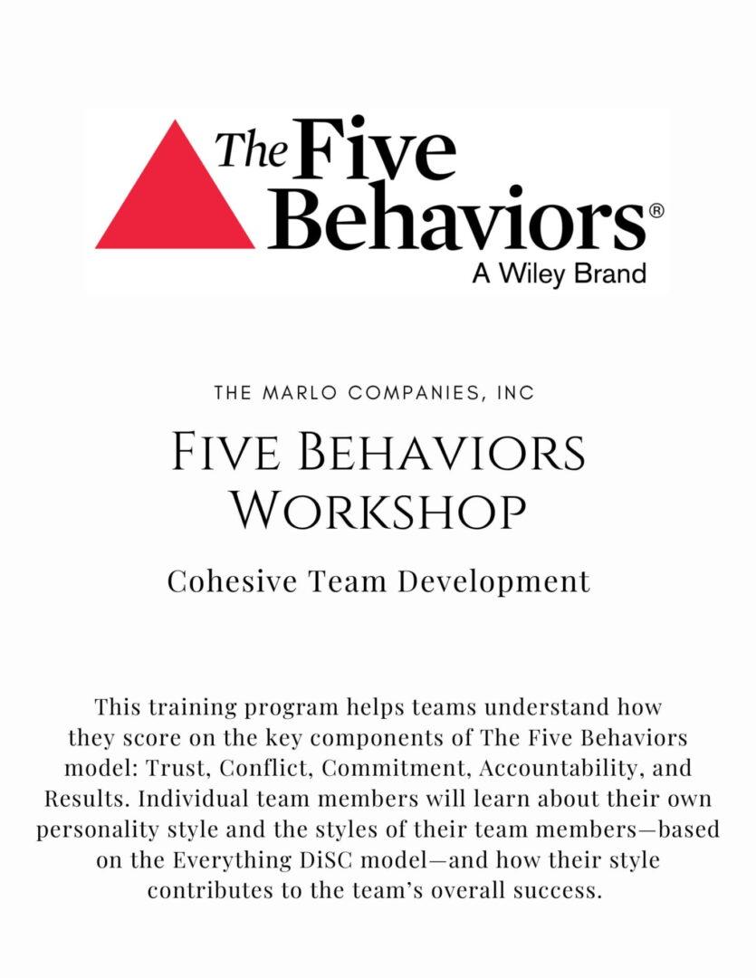 5Behaviors - Cohesive Team-1