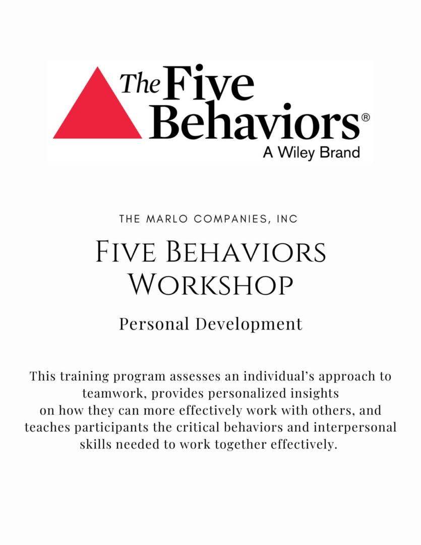 5Behaviors - Personal Development-1