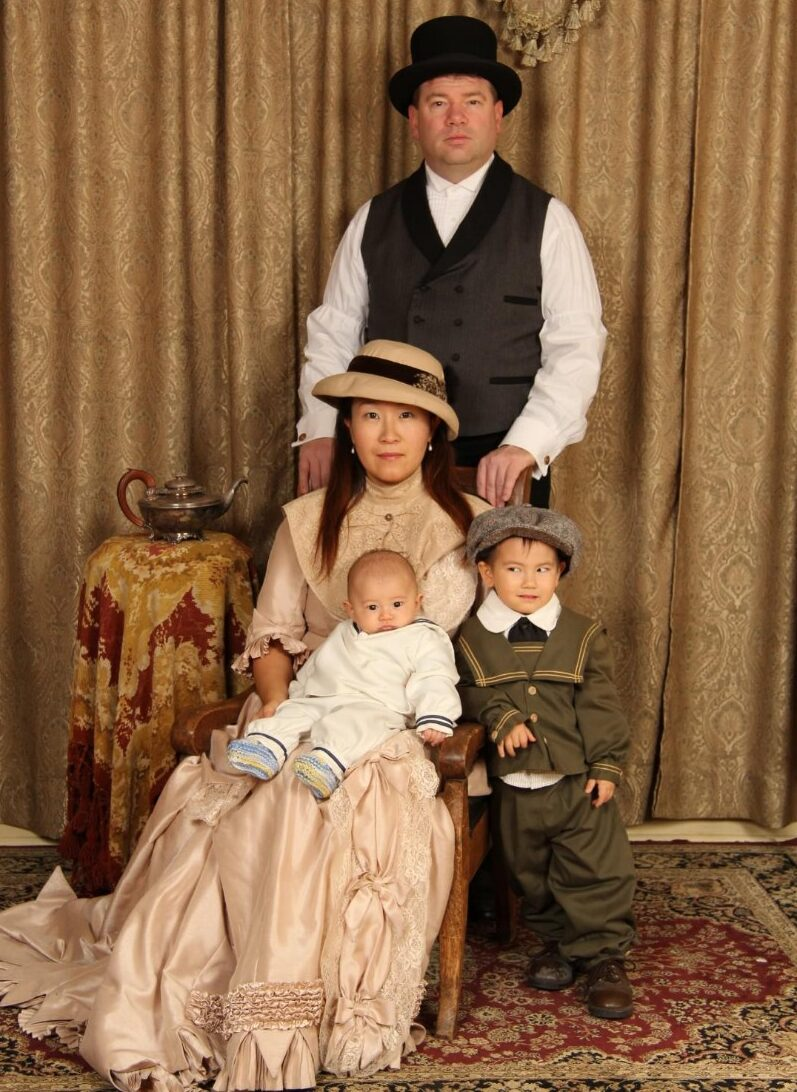 John William Wade and Family in a heritage photo