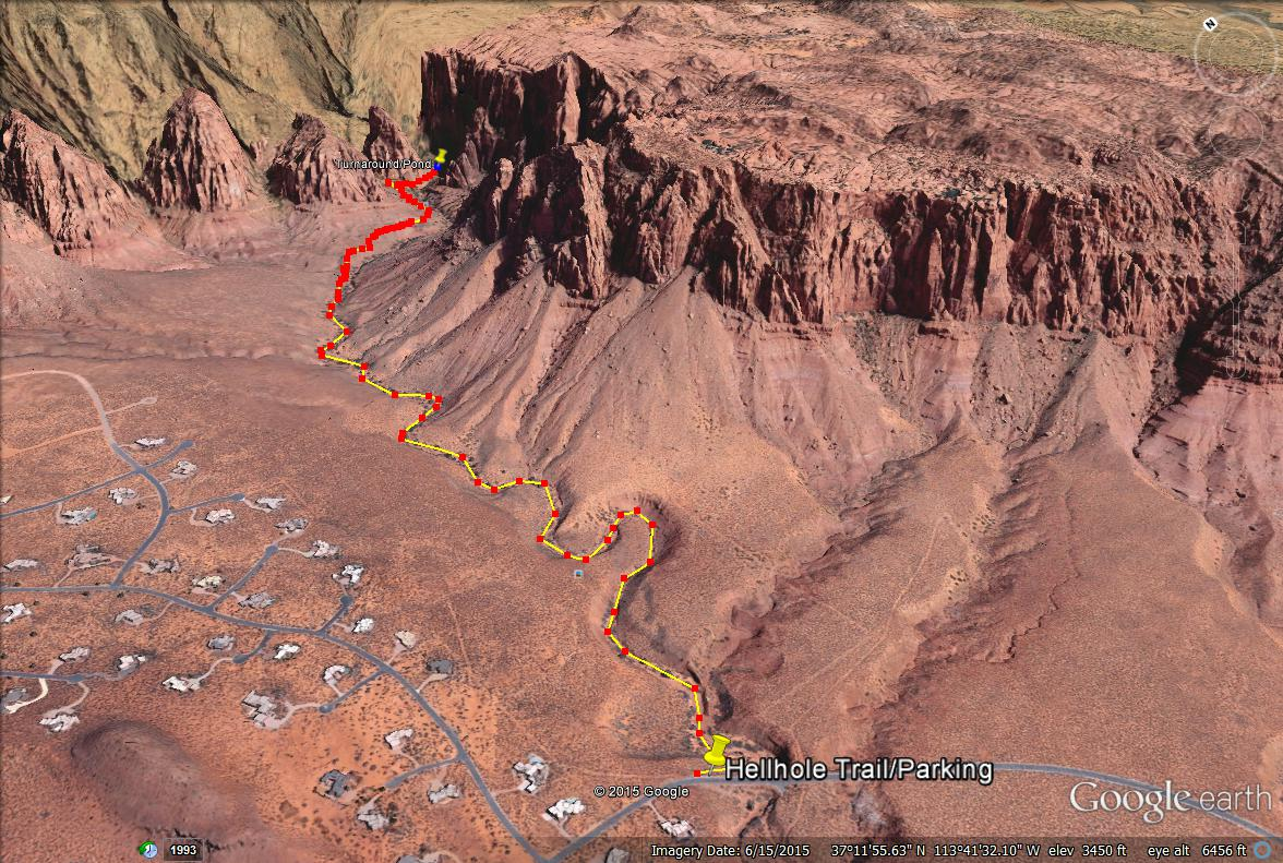 Kayenta Canyon trail map