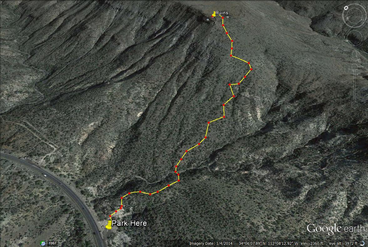 Black Mesa Indian Ruins trail map