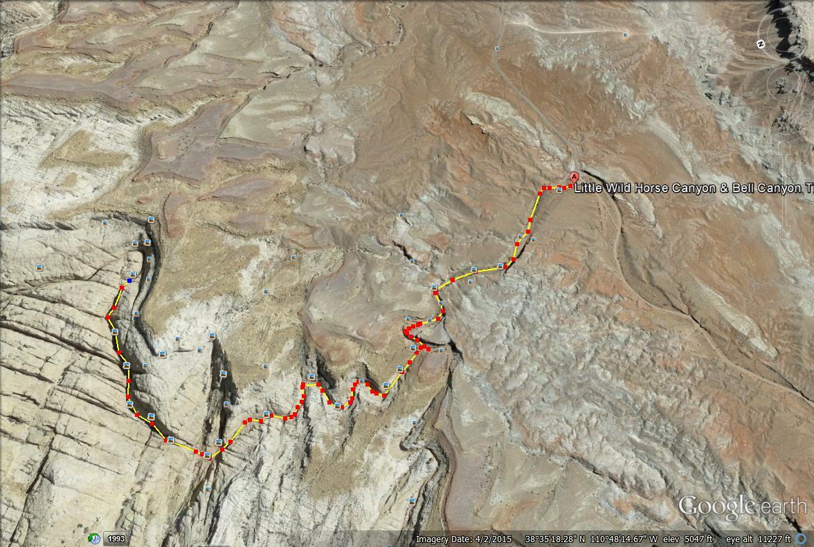 Little Wild Horse canyon map