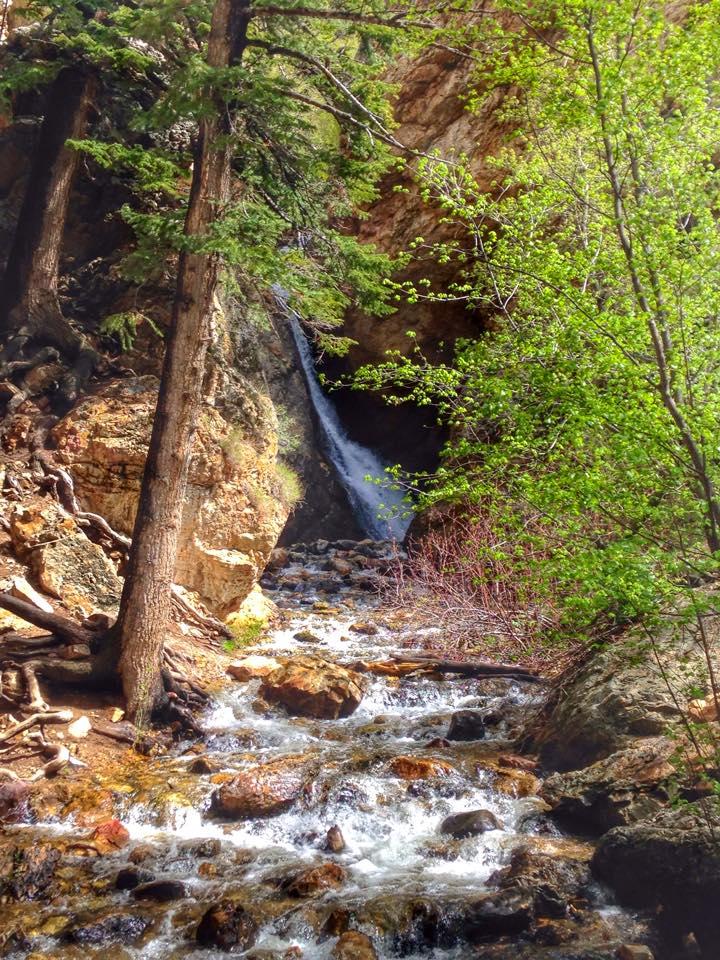 Hidden Falls Big Cottonwood Canyon, Hidden Falls trail map
