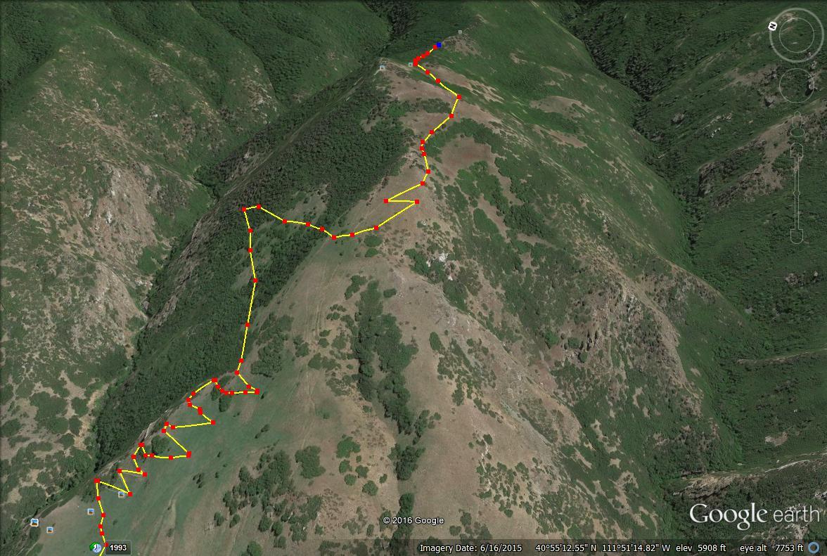 Parrish Canyon Trail map, Parrish Creek Trail map