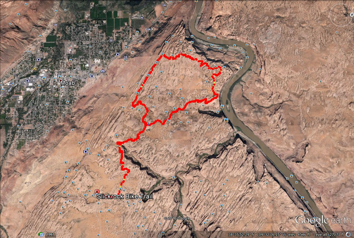 Slickrock Trail Map, Slickrock Moab