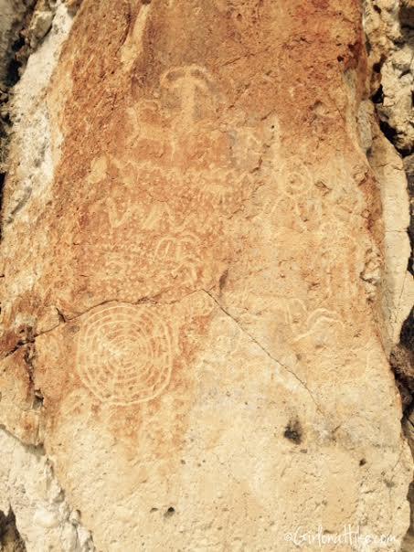 Fremont Indian State Park, Utah Petroglyphs