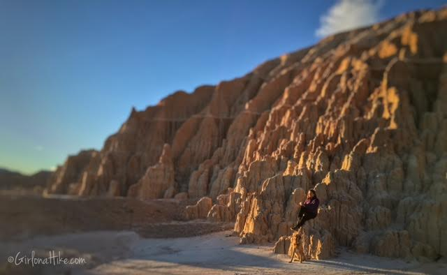 Hiking and Camping at Cathedral Gorge State Park, Moon Caves