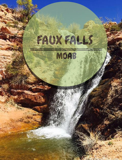 Hiking to Faux Falls, Moab