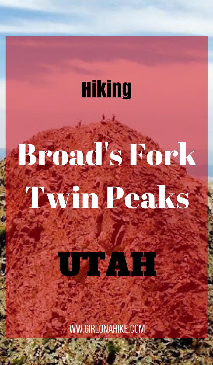 Hiking Twin Peaks via Robinson's Variation, Big Cottonwood Canyon, Utah