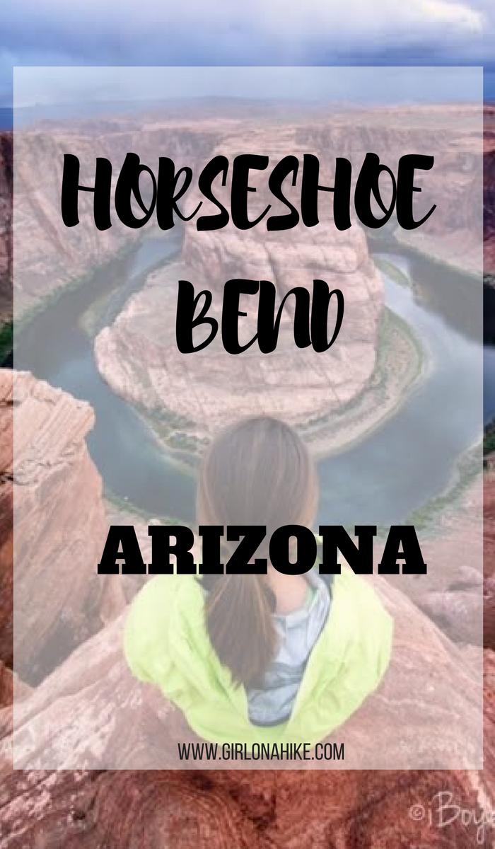 Hiking to Horseshoe Bend, Page, Arizona