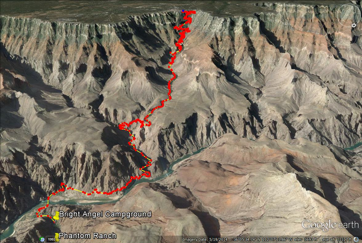 Backpacking the Bright Angel Trail, Grand Canyon National Park, Bright Angel Trail Maps