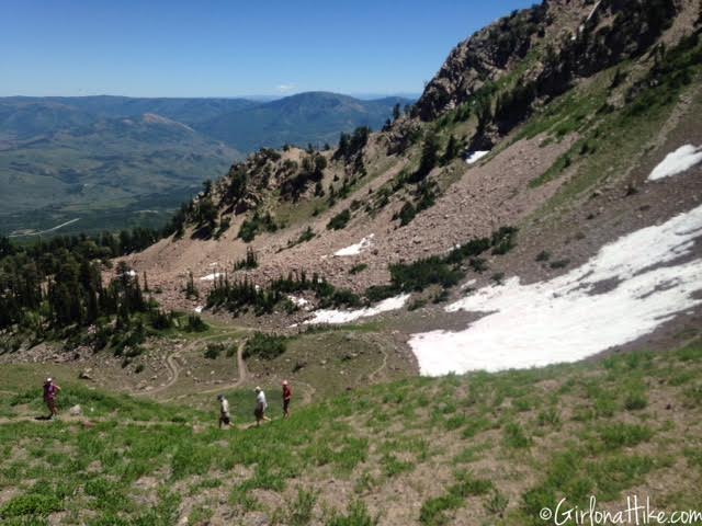 Hiking Mount Ogden, Snowbasin Ski Resort, Utah