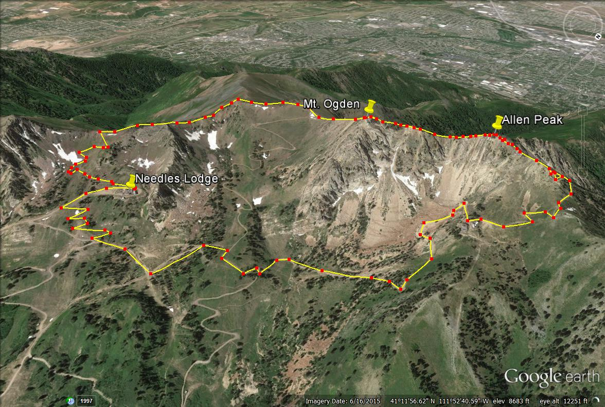 Mount Ogden trail map