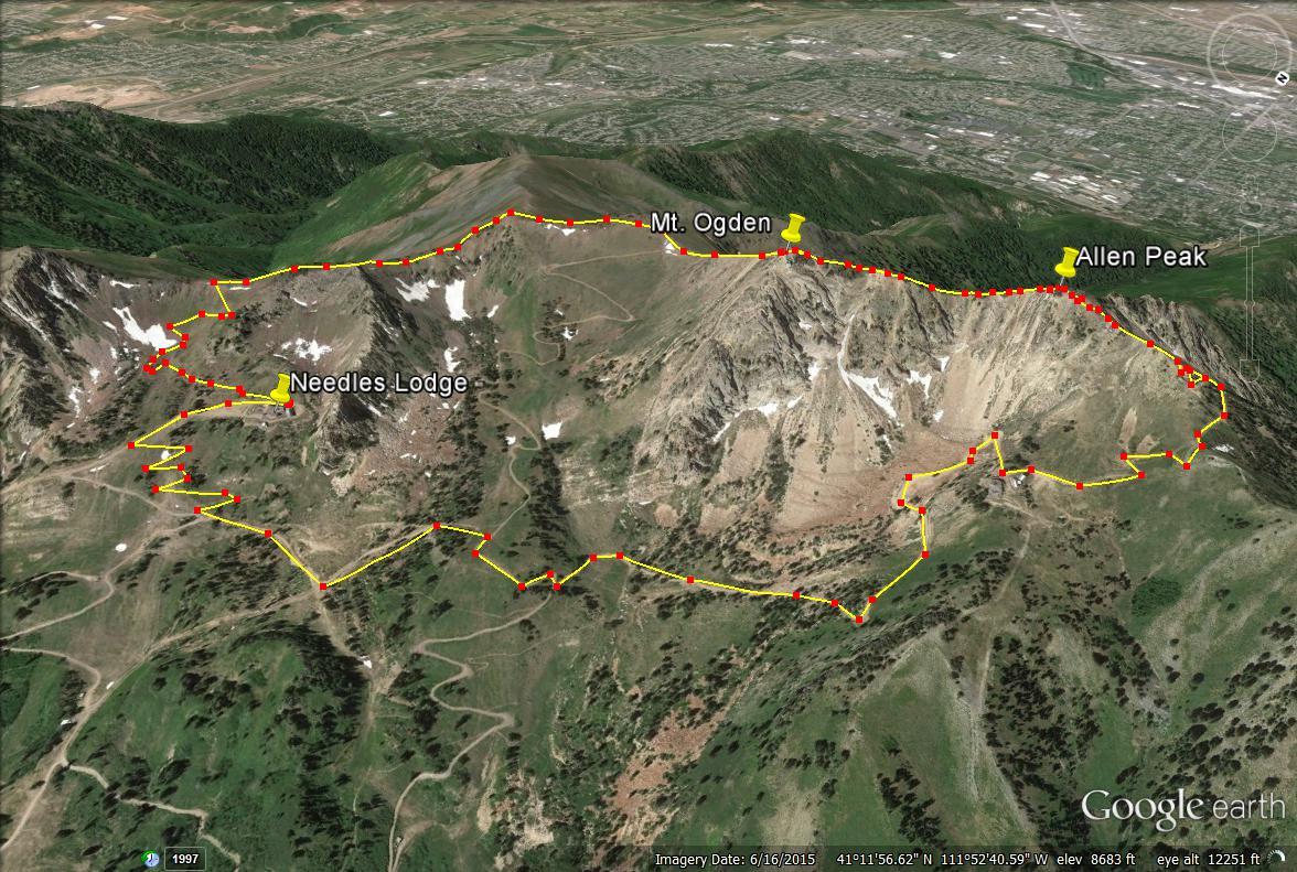 Mount Ogden trail map