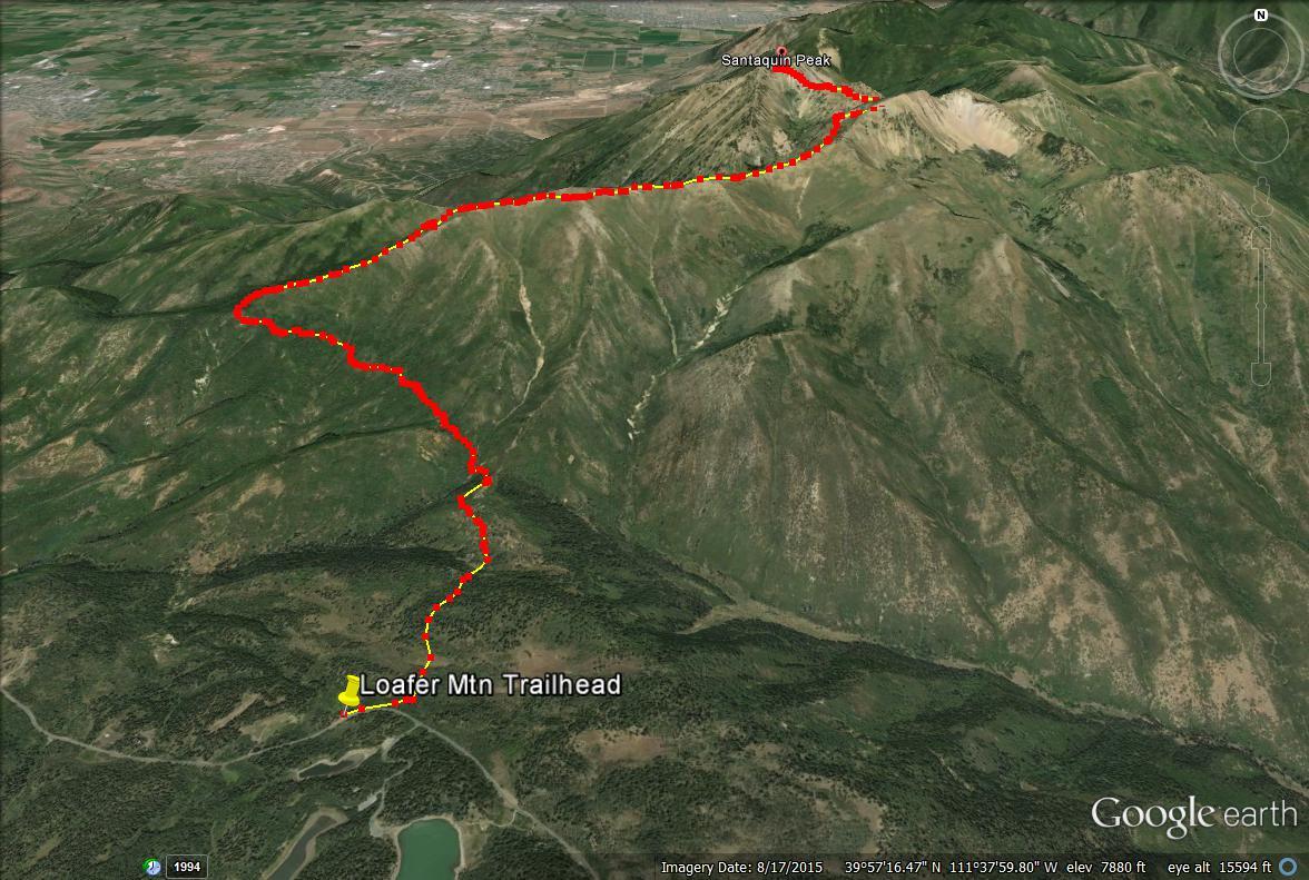 Santaquin Peak trail map