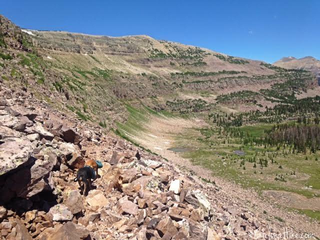 Backpacking to Rock Creek Basin, High Uintas, Rocky Sea Pass
