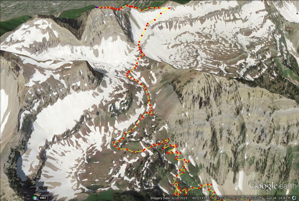 Hiking Mt. Timpanogos via Aspen Grove trail map