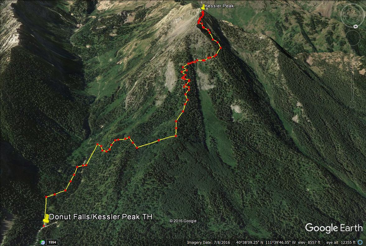 Hiking Kessler Peak, Big Cottonwood Canyon, Utah