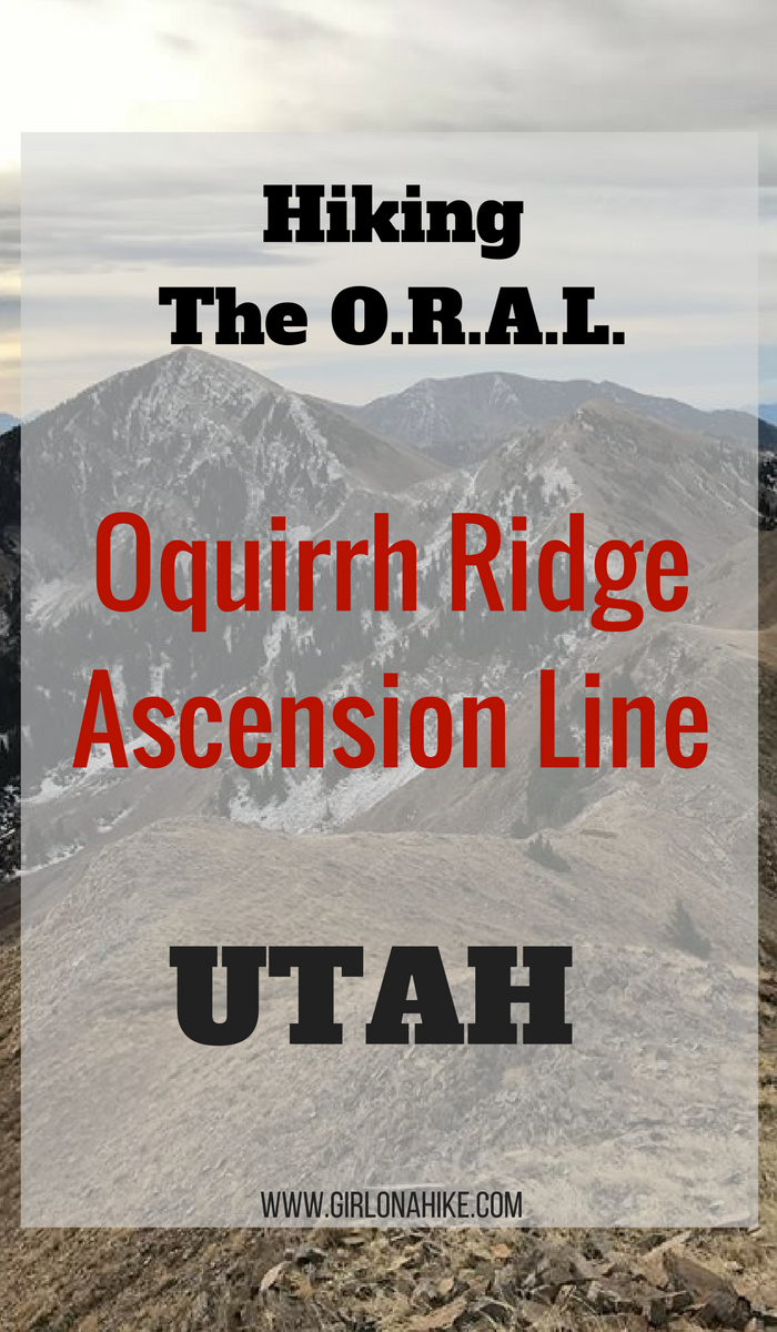 Hiking the Oquirrh Ridge Ascension Line (O.R.A.L.), Hiking in the Oquirrh Mountains, Peak bagging in Utah, Utah