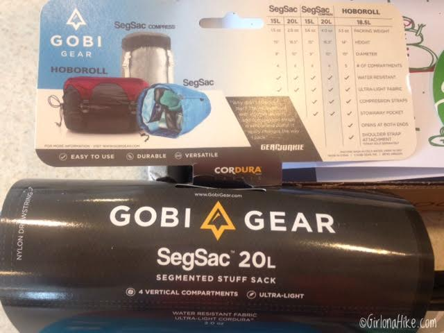 Cairn Subscription Box Review, Gobi Gear SegSac 20 liters