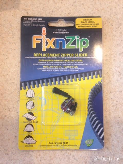Cairn Subscription Box Review, FixnZip zipper repair kit